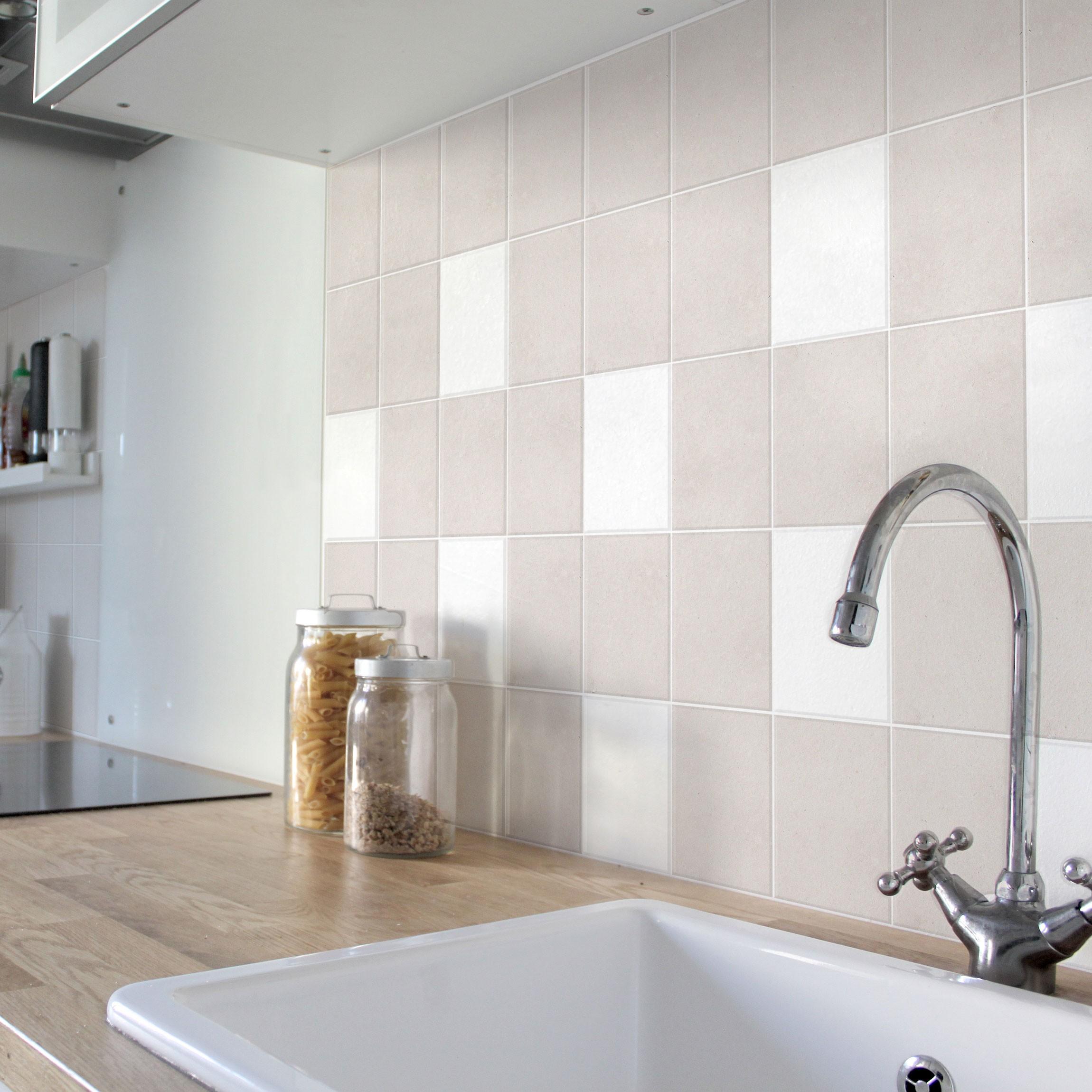 fliesenaufkleber bad k che wei 15x15 cm set. Black Bedroom Furniture Sets. Home Design Ideas