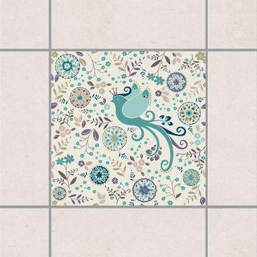Produktfoto Fliesenaufkleber - Die Vogelkönigin Im Winterkleid 15x15 cm - Fliesensticker Set