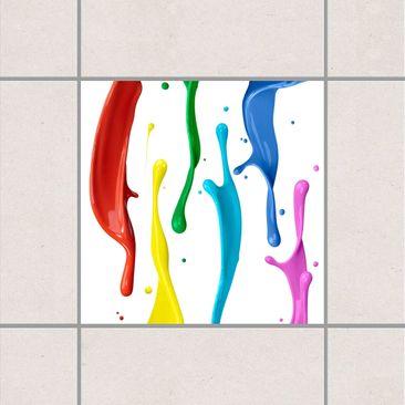 Immagine del prodotto Adesivo per piastrelle - Coloured Mandala 15cm x 15cm
