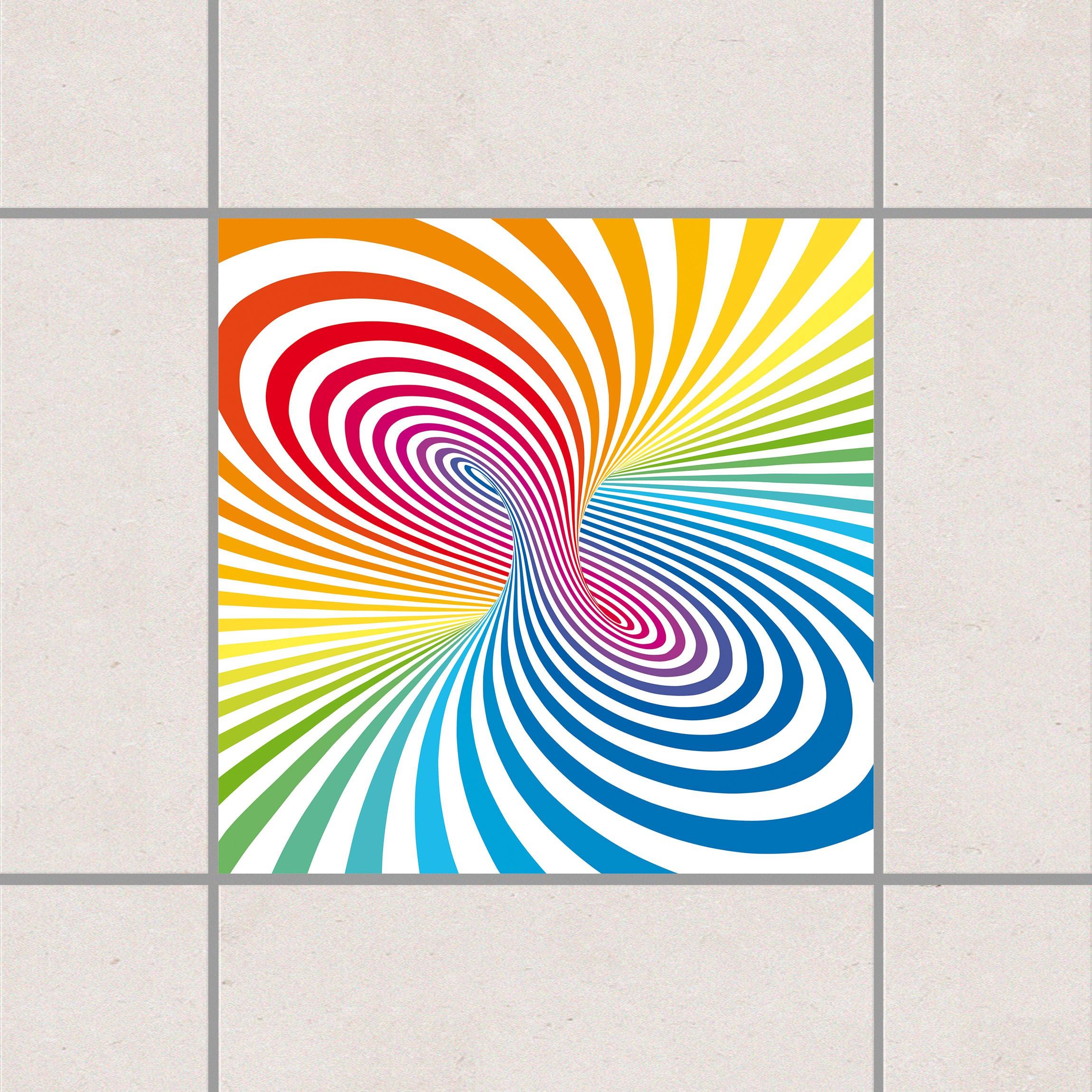 Fliesenaufkleber farbtornado 15x15 cm fliesensticker set for Fliesensticker 15x15