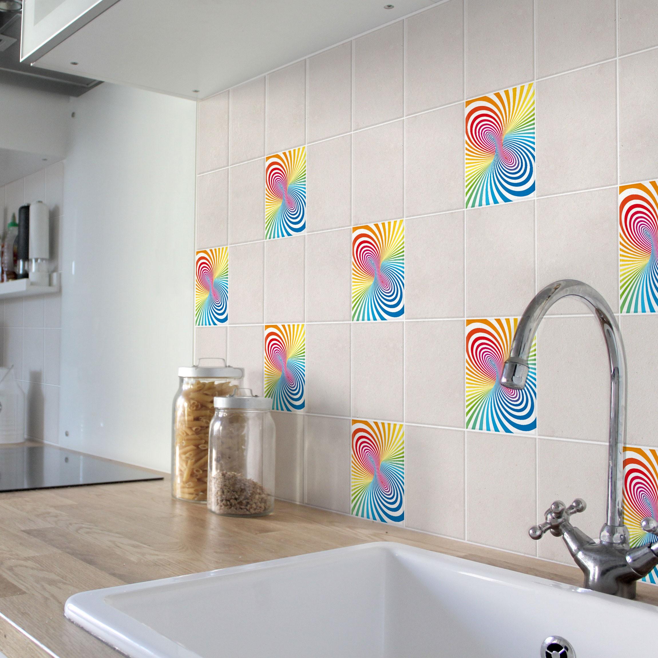 Adesivo Per Piastrelle Splashes Of Colour 15cm X 15cm