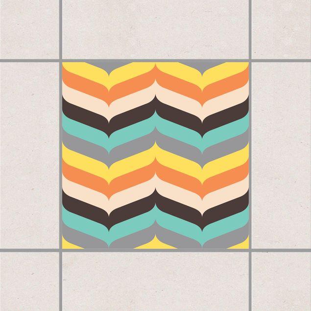 Produktfoto Fliesenaufkleber - Fischgrätmuster Herbststimmung 15x15 cm - Fliesensticker Set
