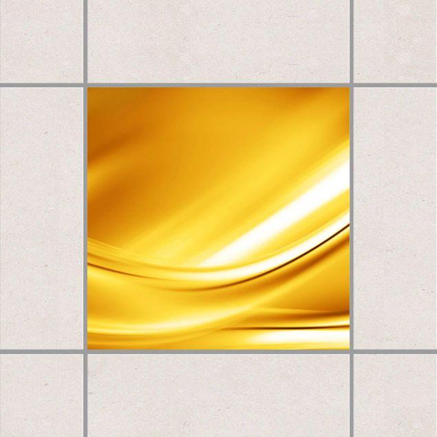 Fliesenaufkleber golden glow 15x15 cm fliesensticker set for Fliesenaufkleber 15x15