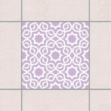 Produktfoto Fliesenaufkleber - Islamic Lavender 15x15 cm - Fliesensticker Set Flieder