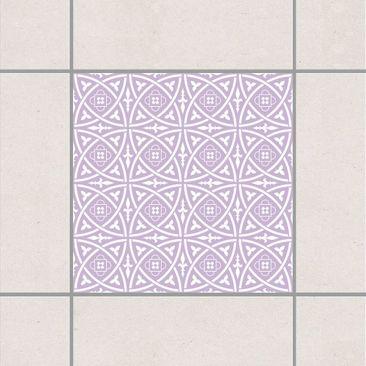 Produktfoto Fliesenaufkleber - Keltisch Lavender 15x15 cm - Fliesensticker Set Flieder