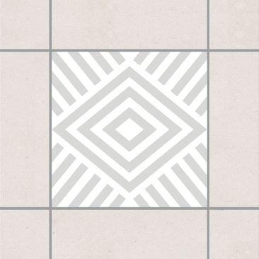 Produktfoto Fliesenaufkleber - Marina Light Grey 15x15 cm - Fliesensticker Set Grau