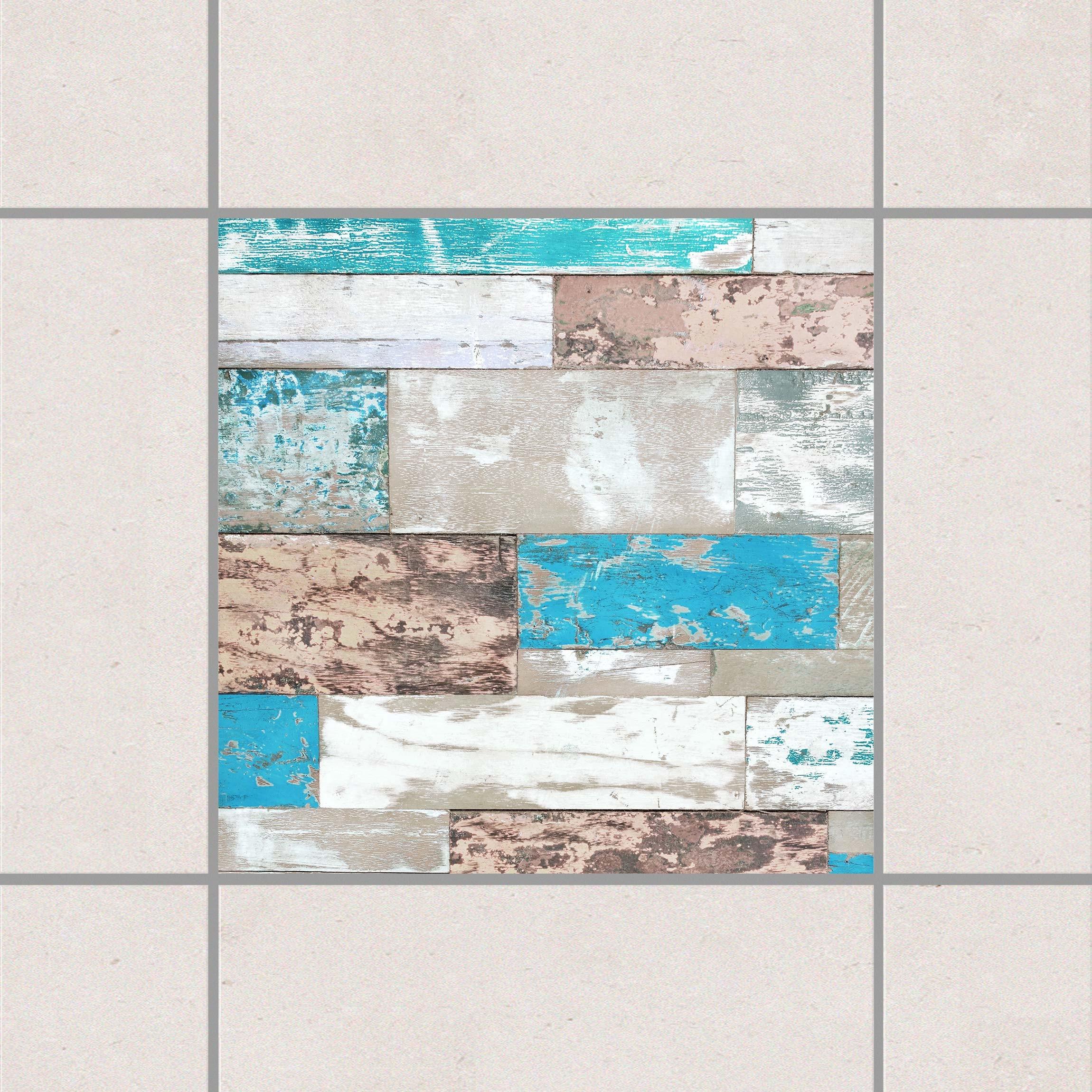 Fliesenaufkleber maritime planks 15x15 cm for Fliesensticker 15x15
