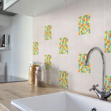 Product picture Tile Sticker - Mosaic Tiles Sommerset...