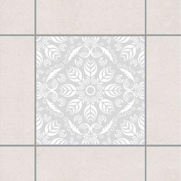 Produktfoto Fliesenaufkleber - Rosamunde Light Grey 15x15 cm - Fliesensticker Set Grau