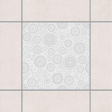 Produktfoto Fliesenaufkleber - Sezession Light Grey 15x15 cm - Fliesensticker Set Grau
