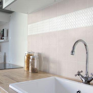 Product picture Tile Sticker - Traditional Quatrefoil...