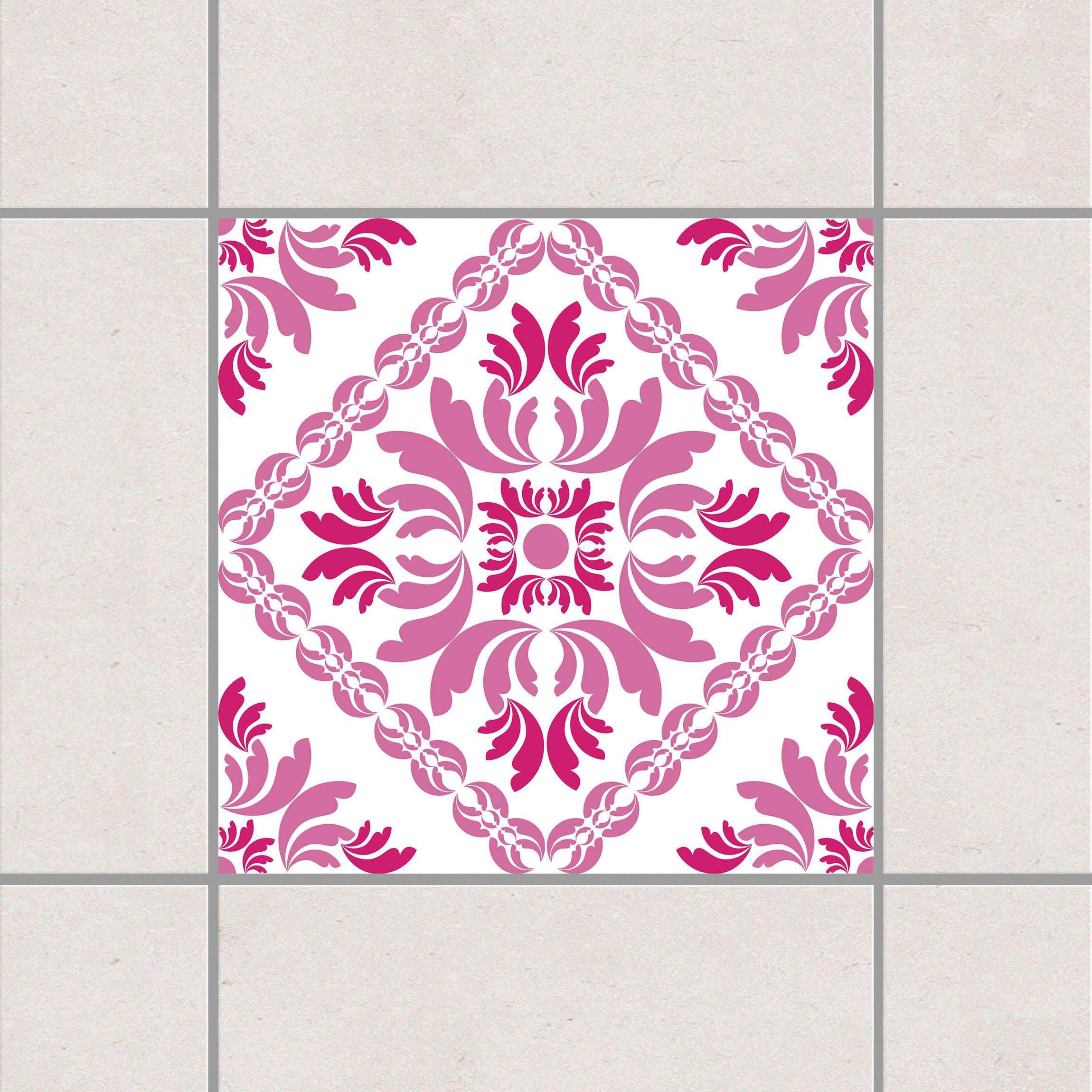 Fliesenaufkleber vera rosa 15x15 cm fliesensticker set for Fliesensticker 15x15