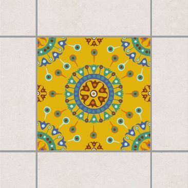 Produktfoto Fliesenaufkleber - Wayuu Design 15x15 cm - Fliesensticker Set