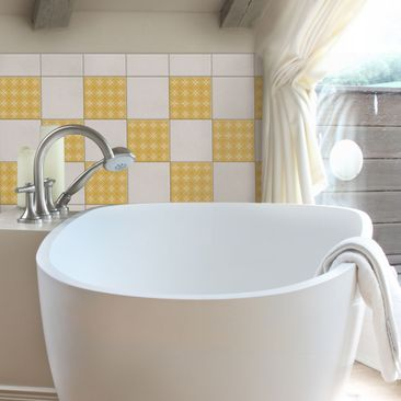 Product picture Tile Sticker - Tender Vintage Caro Melon...
