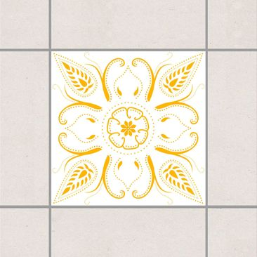 Produktfoto Fliesenaufkleber - Bandana White Melon Yellow 20x20 cm - Fliesensticker Set Gelb