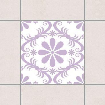 Produktfoto Fliesenaufkleber - Blumendesign White Lavender 20x20 cm - Fliesensticker Set Flieder