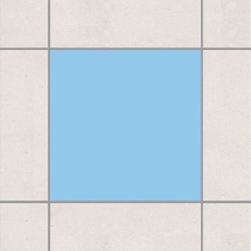 Produktfoto Fliesenaufkleber Bad & Küche - Colour Light Blue 20x20 cm - Set Blau