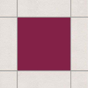Produktfoto Fliesenaufkleber Bad & Küche - Colour Wine Red 20x20 cm - Set Rot