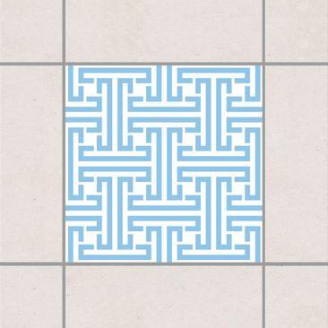 Immagine del prodotto Adesivo per piastrelle - Decorative Labyrinth Light Blue 20cm x 20cm