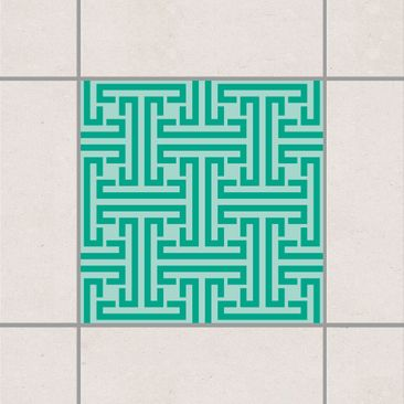 Produktfoto Fliesenaufkleber - Dekoratives Labyrinth 20x20 cm - Fliesensticker Set