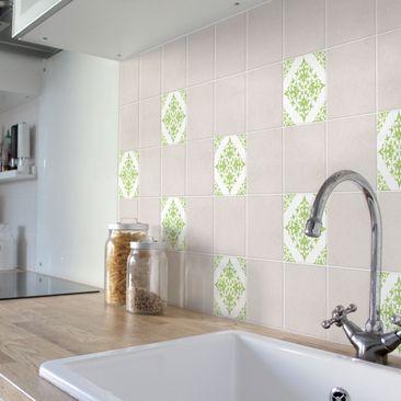 Product picture Tile Sticker - Tile Pattern White Melon...
