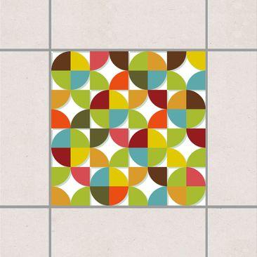 Immagine del prodotto Adesivo per piastrelle - Circles in the quarter 20cm x 20cm