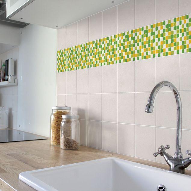 Produktfoto Fliesenaufkleber Mosaik - selbstklebende Mosaikfliesen Frühlingsset 20x20 cm - Klebefliesen