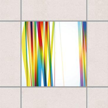 Product picture Tile Sticker - Rainbow Stripes 20cm x...