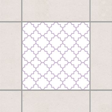 Product picture Tile Sticker - Traditional Quatrefoil...