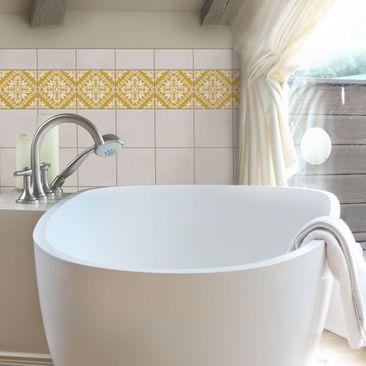 Product picture Tile Sticker - Vera Rosa Melon Yellow...
