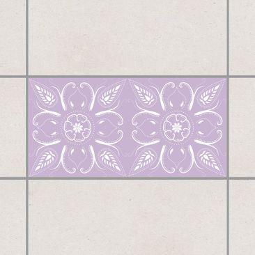 Produktfoto Fliesenaufkleber - Bandana Lavender 30x60 cm - Fliesensticker Set Flieder