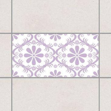 Produktfoto Fliesenaufkleber - Blumendesign White Lavender 30x60 cm - Fliesensticker Set Flieder