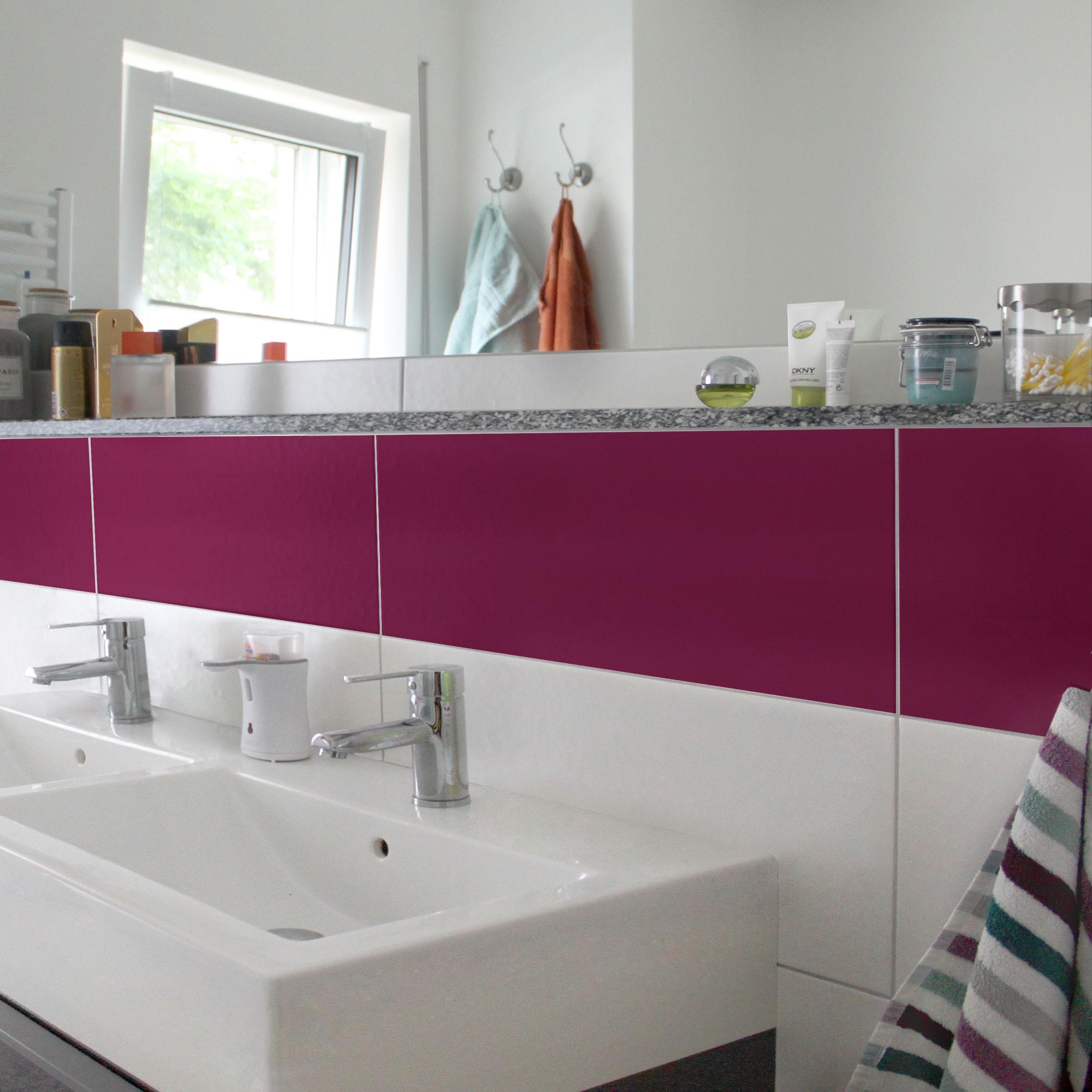 fliesenaufkleber bad k che colour wine red 30x60 cm set. Black Bedroom Furniture Sets. Home Design Ideas