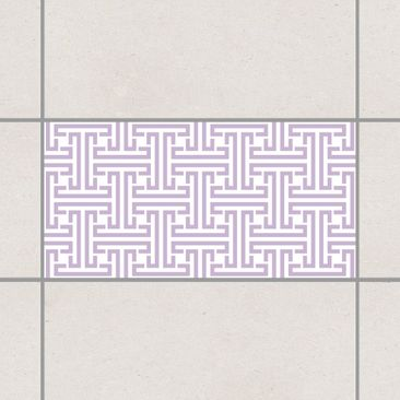 Produktfoto Fliesenaufkleber - Dekoratives Labyrinth Lavender 30x60 cm - Fliesensticker Set Flieder