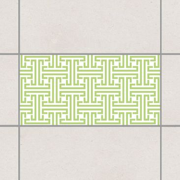 Produktfoto Fliesenaufkleber - Dekoratives Labyrinth Spring Green 30x60 cm - Fliesensticker Set