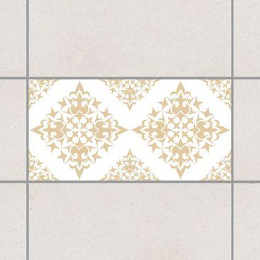 Produktfoto Fliesenaufkleber - Fliesenmuster White Light Brown 30x60 cm - Fliesensticker Set Braun