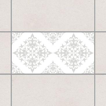 Produktfoto Fliesenaufkleber - Fliesenmuster White Light Grey 30x60 cm - Fliesensticker Set Grau