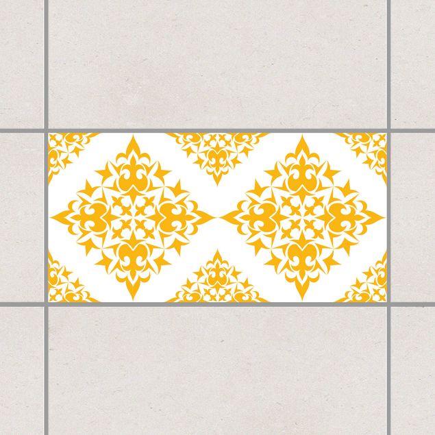 Produktfoto Fliesenaufkleber - Fliesenmuster White Melon Yellow 30x60 cm - Fliesensticker Set Gelb