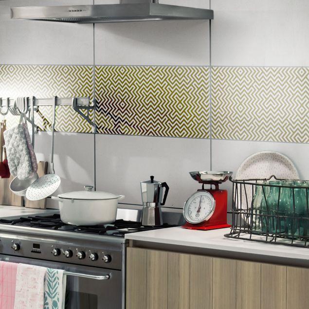 Produktfoto Fliesenaufkleber - Geometrisches Design Braun 30x60 cm - Fliesensticker Set