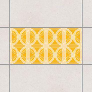 Produktfoto Fliesenaufkleber Mosaik - Kreisförmiges Fliesendesign Melon Yellow 30x60 cm - Klebefliesen