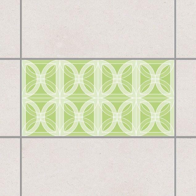 Produktfoto Fliesenaufkleber - Kreisförmiges Fliesendesign Spring Green 30x60 cm - Fliesensticker Set