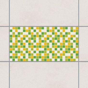 Produktfoto Fliesenaufkleber Mosaik - selbstklebende Mosaikfliesen Frühlingsset 30x60 cm - Klebefliesen