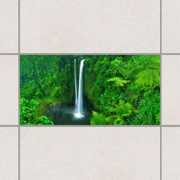 Produktfoto Tile Sticker - Paradisiacal Waterfall...