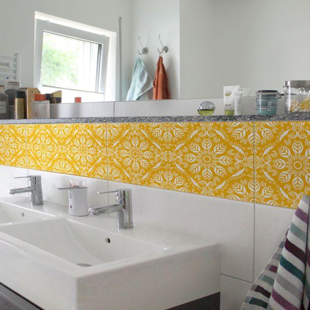 Produktfoto Fliesenaufkleber - Rosamunde Melon Yellow 30x60 cm - Fliesensticker Set Gelb