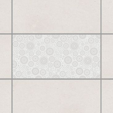 Product picture Tile Sticker - Secession Light Grey 30cm...