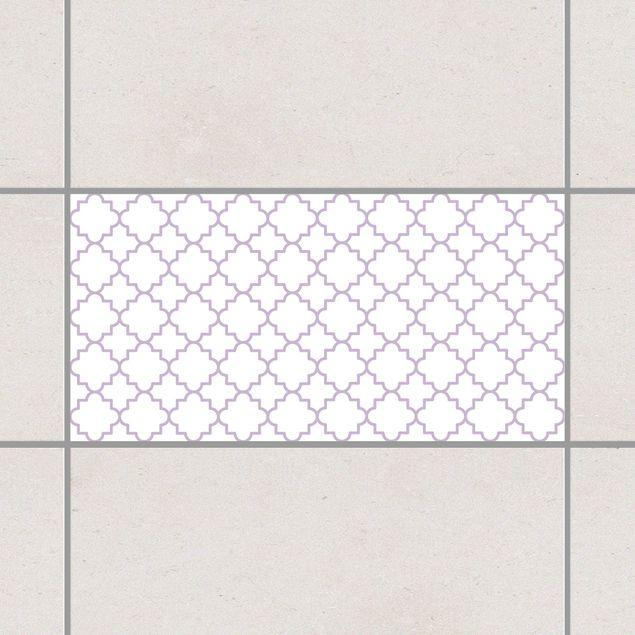 Produktfoto Fliesenaufkleber - Traditional Quatrefoil White Lavender 30x60 cm - Fliesensticker Set