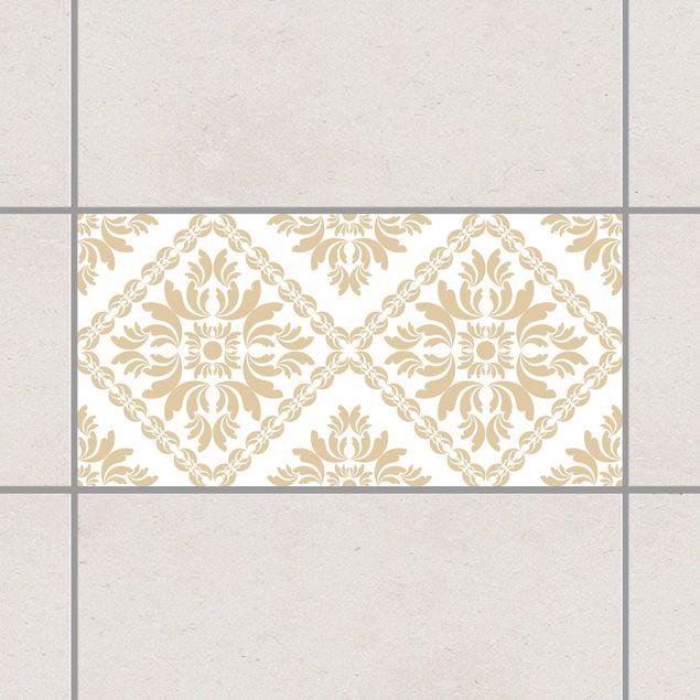 Produktfoto Fliesenaufkleber - Vera Rosa White Light Brown 30x60 cm - Fliesensticker Set Braun