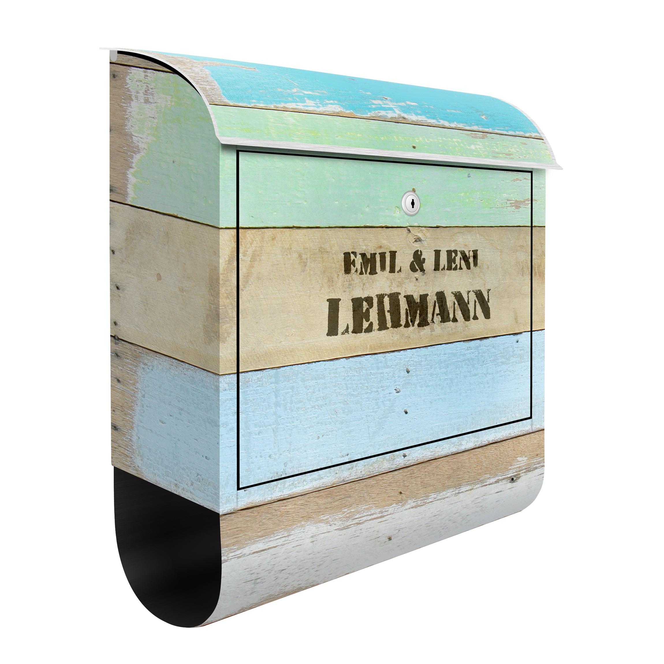 Briefkasten Vintage - Wunschtext Rustic Timber - mit eigenem Text ...