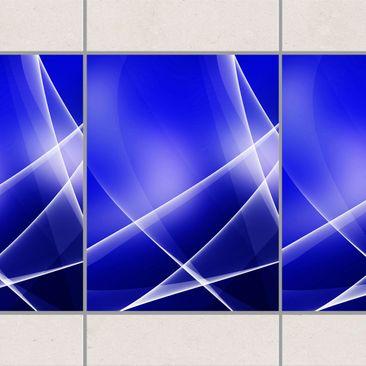 Produktfoto Fliesen Bordüre - Blue Disco 20x15 cm -...