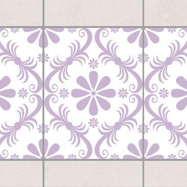 Produktfoto Fliesen Bordüre - Blumendesign White...